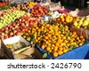 fruit and vegetable in food market - stock photo