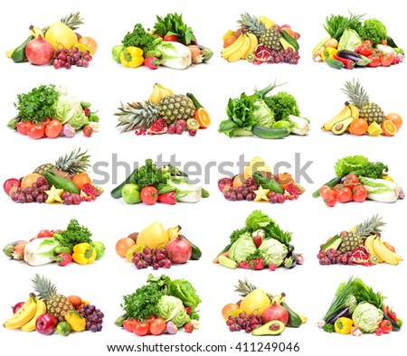 Fruit and vegetables - stock photo