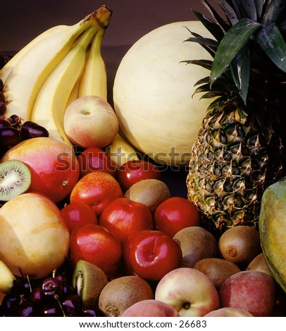 Fruit assortment - stock photo
