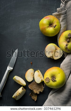 Fruit Background Apples - stock photo