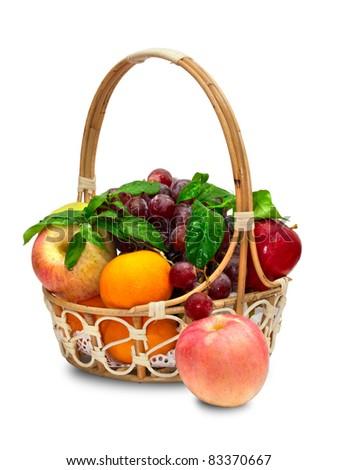 Fruit basket - stock photo