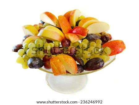 Fruit bowl full of ripe fruits - stock photo