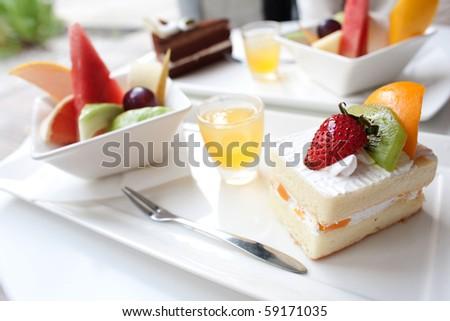 fruit cake - stock photo