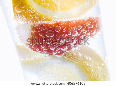 fruit cocktail - stock photo