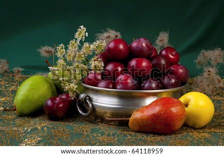Fruit dish - stock photo