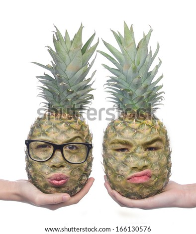 Fruit Faces - stock photo