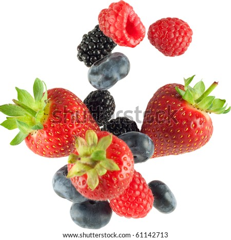fruit falling - stock photo