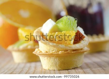 fruit in basket - stock photo