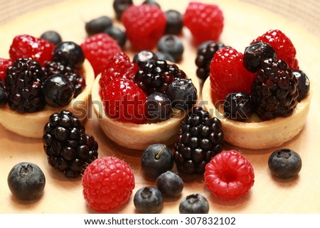 Fruit in pastry  - stock photo