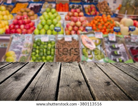 fruit in the supermarket - stock photo