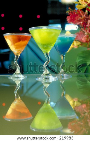 Fruit Infused Cocktails - stock photo