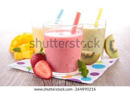 fruit juice, smoothie - stock photo