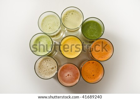 fruit juices - stock photo