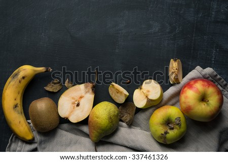 Fruit Kitchen Background - stock photo