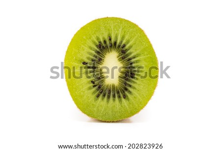 Fruit,Kiwi Fruit isolated on white background. - stock photo