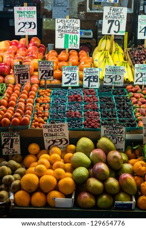 Fruit Market Stand - stock photo