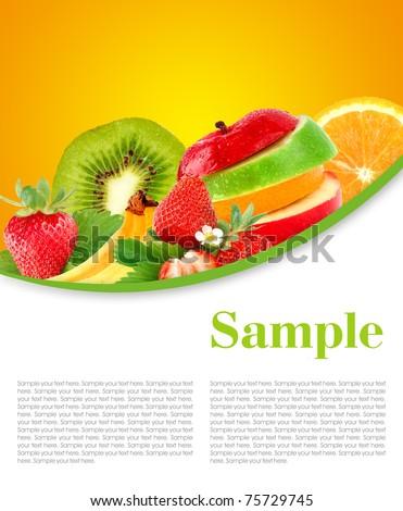 Fruit mix - stock photo