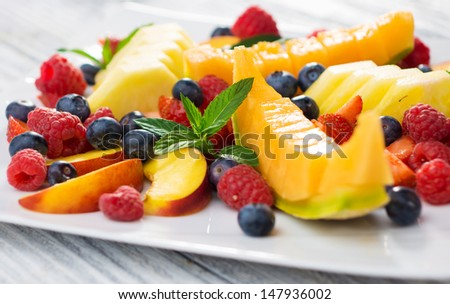 Fruit plate   - stock photo