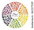 fruit rainbow - stock photo