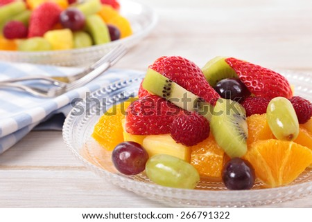 Fruit salad with mixed fresh fruits