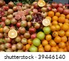 Fruit selection at local outdoor market in Istanbul, Turkey - stock photo