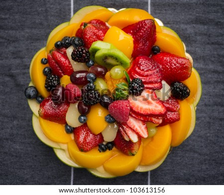 Fruit Tart 2 - stock photo