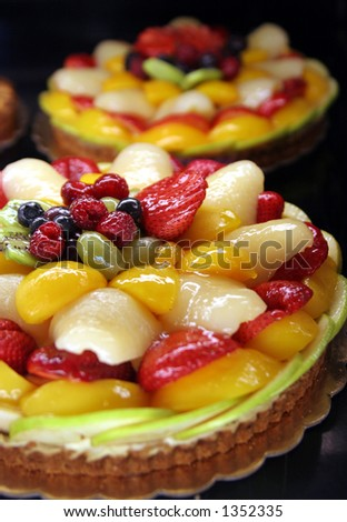Fruit tarts are delicious and pretty. - stock photo