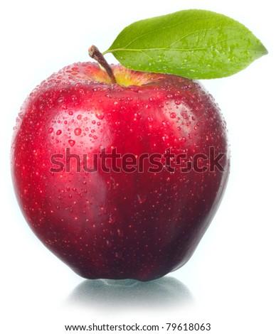 Fruit the fresh tasty, an apple . - stock photo