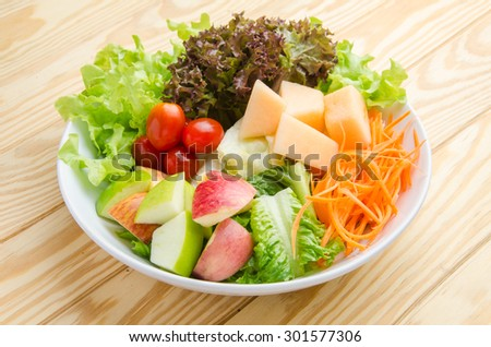 Fruits and vegetables are healthy - stock photo