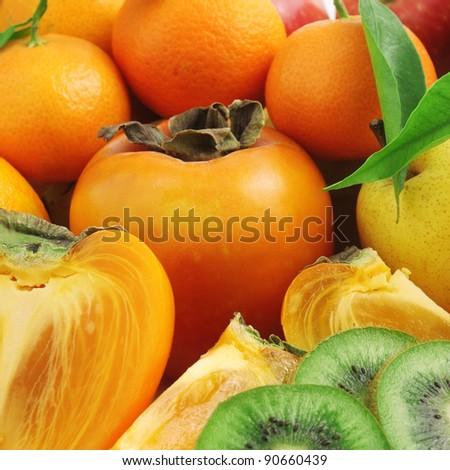 fruits background - stock photo
