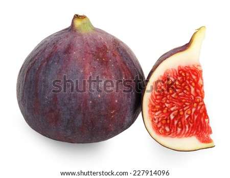 Fruits figs isolated on white background - stock photo