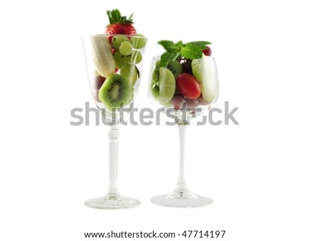 fruits in a wineglass