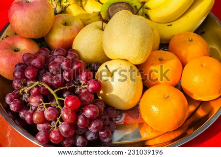 Fruits of the plate. - stock photo