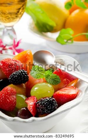fruits salad - stock photo