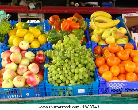 Fruits & veggies at the market in Bergen, Norway