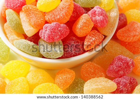 fruity jelly beans - stock photo