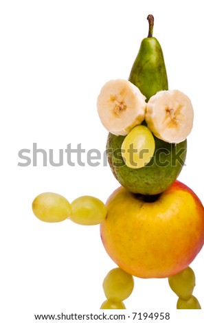 fruity man isolated on a white background