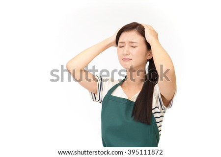 Frustrated Asian woman