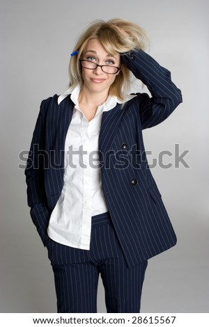 Frustrated Businesswoman - stock photo
