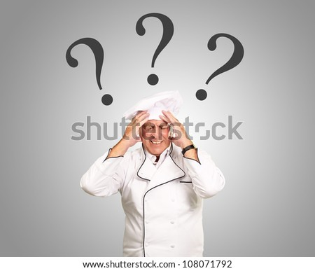 Frustrated Chef With Question Mark Over head