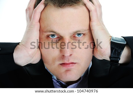Frustrated guy - stock photo
