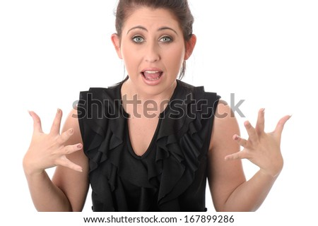Frustrated Young Woman - stock photo