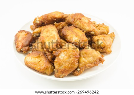 Fry chicken wing - stock photo