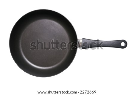 Fry pan isolated on a white background with clipping path included