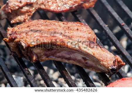 fry the meat thick steak, steak, grilled cue