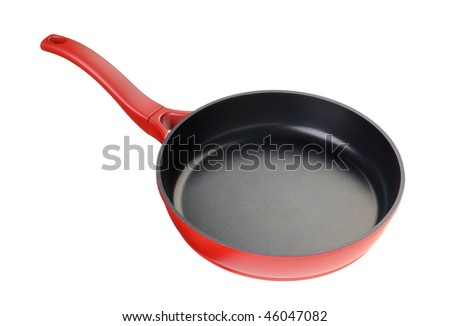 Frying pan - kitchen utensils It is isolated on a white background - stock photo