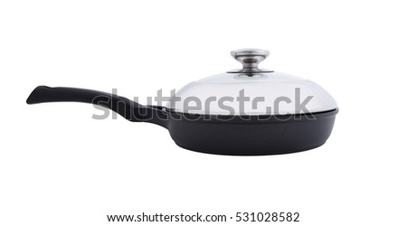 frying pan with cover