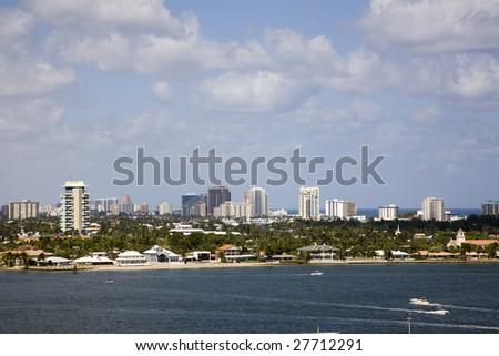 Ft. Lauderdale skyline - stock photo