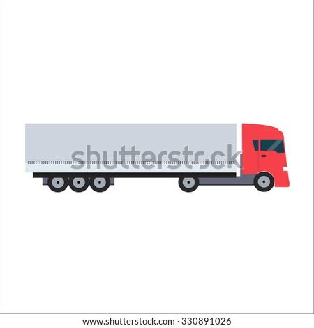 Ftat Truck Illustration  - stock photo