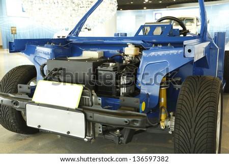 Fuel cell concept car - stock photo